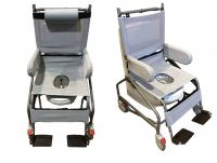 Manual Tilt In Space Height Adjustable Shower Commode Chair