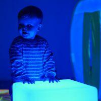 LED Coloured Light Cube