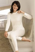 Womens Pure Silk Thermal Long Johns