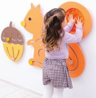 Squirrel And Nut Sensory Wall Panel