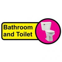 Long Bathroom And Toilet Sign