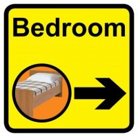 Square Bedroom Sign