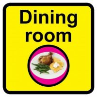 Square Dining Room Sign