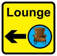 Square Lounge Sign