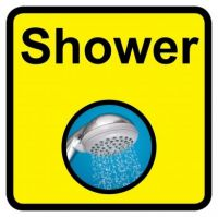 Square Shower Sign