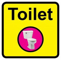 Square Toilet Sign