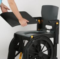 Wheelable Travel Aid Shower And Commode Chair