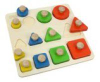 Shape Size And Colour Large Peg Puzzle