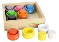 Colour Pots Matching Circles Set