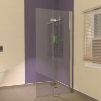 Hinged Wet Room Screens suitable for Vinyl Flooring