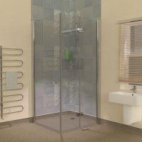 Wet Room Vinyl Flooring Hinged Glass Shower Screens