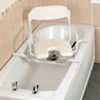 White Line Swivel Bath Seat