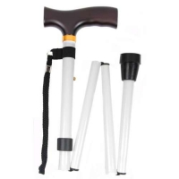 White Folding Walking Stick