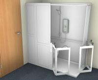 Contour Corner Stepped Access Shower Cubicle With WC
