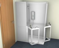Contour Stepped Access Corner Shower Cubicle