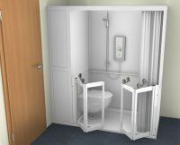 Contour Stepped Access Shower Cubicles With Wc
