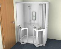 Contour Stepped Access Shower Cubicles
