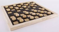 Tactile Wooden Draughts Set