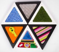 Set Of 6 Tactile Triangles