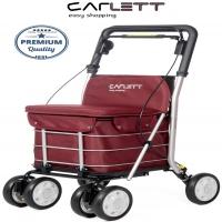 Carlett Lett800 Deluxe Walk & Rest Folding 6 Wheel Swivel Shopping Trolley with Seat Backrest