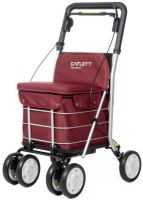 Carlett Lett800 Deluxe Walk & Rest Shopping Trolley With Seat Backrest