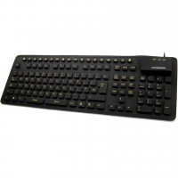 Waterproof Roll Up Keyboard With High Visibility Keys