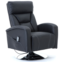 Kaira Leather Swivel Rise Recliner