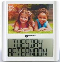 Viso5 Calendar & Day Clock With Photo Frame