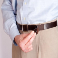 Easy Fastening Leather Belt