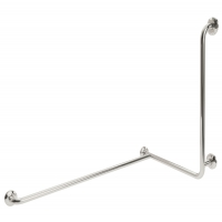 Corner Support Rail With Concealed Fixing In Stainless Steel