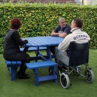 Octagonal Wheelchair Access Table