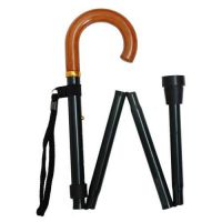 Crook Handled Folding Walking Stick