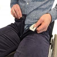 Men's Zip Front Wheelchair Cords