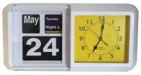Large Day Night Flip Calendar Clock