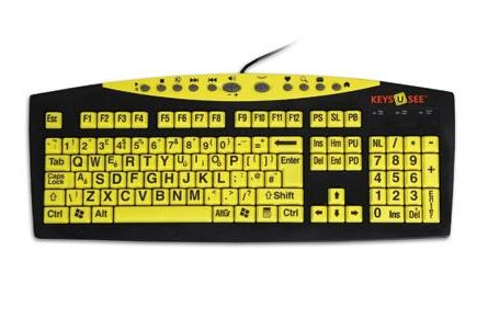 Keyboards with large print or high contrast