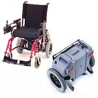 Add-on systems to power assist a manual wheelchair - Attendant operated category