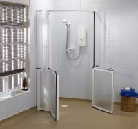 Shower screens and enclosures with non-standard features