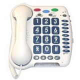 Large number, or shaped button corded telephones