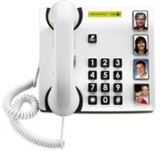 Telephones with photo or picture buttons