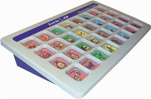 Mounted or desk use communication aids - selection via buttons or specific areas category
