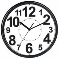 Wall mounted clocks with bold or clear displays
