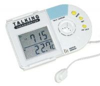 Talking environmental thermometers