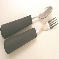 Cutlery with large or contoured handles category