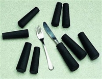 Foam tubing, handles & straps for cutlery