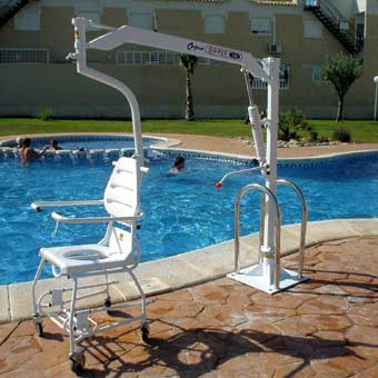 Manually operated swimming pool hoists living made easy - Usa swimming build a pool handbook ...