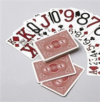 Standard playing cards with large print category