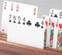 Free standing playing card holders