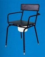 Metal framed standard commodes