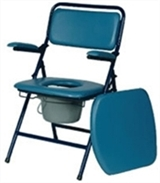 Foldable commodes