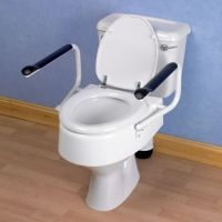 Raised toilet seats with arm rests category